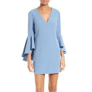 Milly Nicole Bell Sleeve Cady Dress Sz 0 NWT Blue